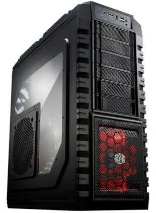 Coolermaster HAF-X Windowed Side Panel Red LED Fan Black Case FRCH-CHAFXWN