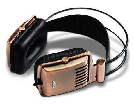 Krator Dione c-1140C full Aluminum Brushed Housing Copper Hi-Fi Headphones FRHS-K1140C