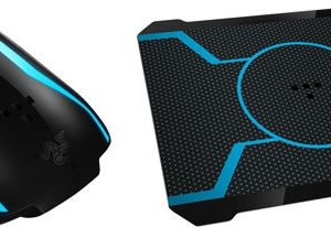 Razer Tron Blue LED Gaming Mouse With Bioluminescent Tron Mousepad FRMo-RTRB