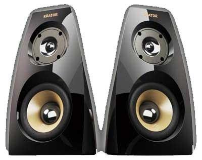 Krator Neso4 16w RMS Piano Black 2.0 Channel Speaker System