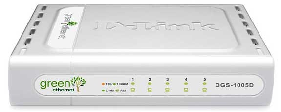 D-Link GigaExpress DGS-1005D 5 Port Gigabit Un-managed Switch
