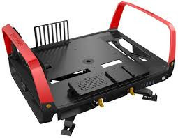 In Win X-Frame 2.0 Chassis - Black & Red (E-ATX, Open-Air, 1065W PSU)