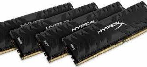 Kingston HyperX Predator 64GB (4x16GB) DDR4-3600MHz CL17 1.35V Black Desktop Memory