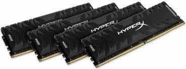 Kingston HyperX Predator 64GB (4x16GB) DDR4-3600MHz CL17 1.35V Black Desktop Memory